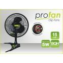 Klipsnový ventilátor PRO, průměr 15cm, 5W